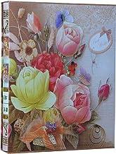 Álbum de fotos LIOOBO Linda capa de flores de papel Álbum de armazenamento de fotos para mulheres de casamento (17 cm, 200...