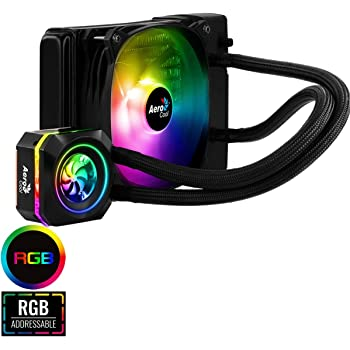 Aerocool Pulse 120mm ARGB AIO Water Cooling System, AMD & Intel Compatible, One Addressable RGB Fan, Compatible With Asus Aura Sync, MSI Mystic Light Sync, Gigabyte RGB Fusion and ASRock RGB Sync