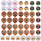 Perfect Samplers Variety Sampler Pack, Assorted Flavors in Single Serve Pods for Keurig K-Cup Machines, Flavored Coffee 50.0 Count