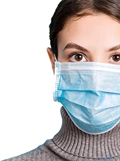 Lutema 3-ply Breathable Disposable Face Mask With Comfortable Elastic Ear Loop Non-woven Polypropylene Block Dust & Air Pollution for Business & Personal Care (made In Usa) (50pcs), 1count