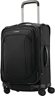 Lineate Expandable Softside Luggage with Double Spinner Wheels