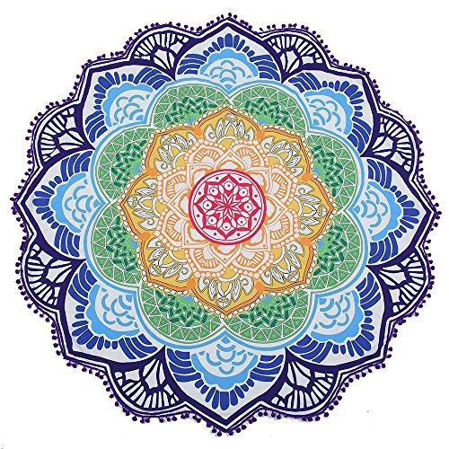 DOTTOD Serviette de plage Mandala ronde - Tapisserie zigane - Tapis de yoga - Nappe de plage