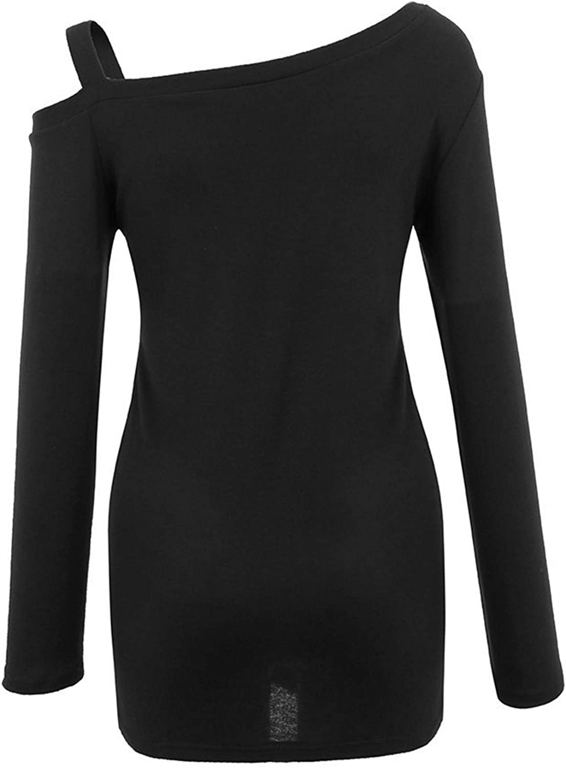 Womens Casual Soft Long Sleeves O Neck Knot Side Twists Blouse Top T-Shirt