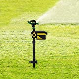 DIFU Repellent Water Sprinkler Spray, Garden Solar Motion Activated Animal Sensor Repeller Outdoor Lawn Yard Water Sprinkler