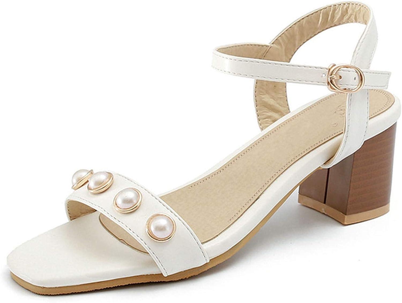 Charismatic-Vibrators Women Sandals Pu Leather Square High Heel Women shoes Buckle Design Westrn Style Summer Sandals