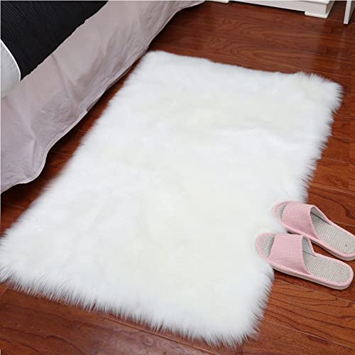 2ac6aa5a8ca GWL Super Soft Faux Sheepskin Fur Area Rugs for Bedroom Floor Shaggy Plush  Carpet