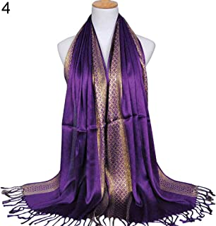 Fashion Women Muslim Long Soft Cotton Shawl Luxury Scarf Tassel Stole Wrap liyhh