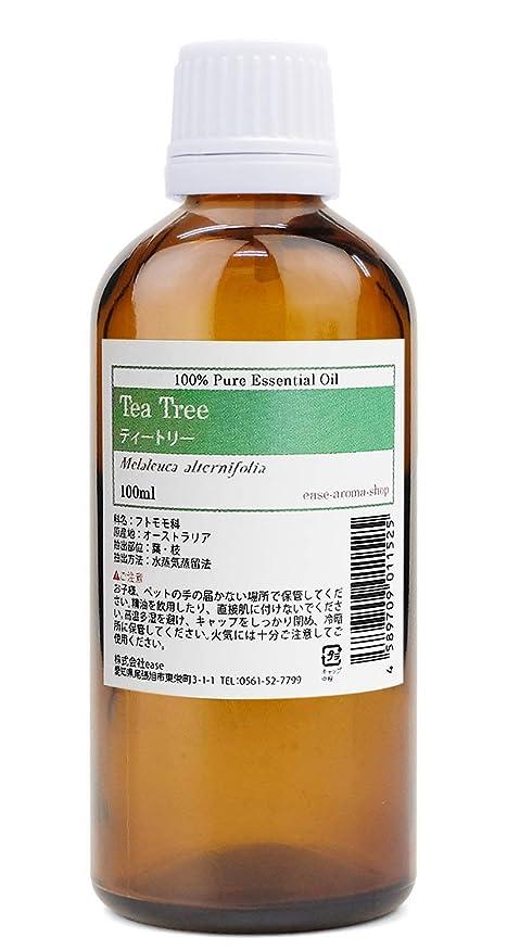 優れました樹皮エージェントease アロマオイル ティートリー 100ml AEAJ認定精油  エッセンシャルオイル