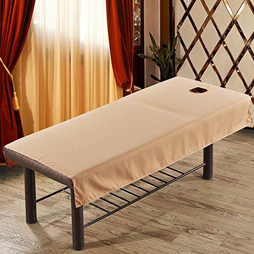 supewold Massage Bed Sheet, Kosmetik-Bed Sheet Cover Spa Massage Bett Tisch Bezug Blatt mit Loch Beauty Massage Tisch Tuch Bett Schwamm Spannbetttuch, camel, 1-80cmx190cm