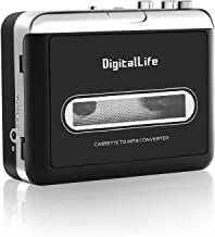 Portátil Walkman Reproductor de Casetes - DigitalLfie USB Conversor Cassette a MP3 - Walkman Tape Cassette To MP3 Grabadora [Compatible con PC/Mac]