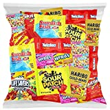 Variety Fun Pack includes: Sour Patch Kids, Swedish Fish, Nerds, Skittles, Starbursts, Sweet Tarts, Twizzlers and Haribo Gold-Bear Gummis 32 Oz of Assorted Candies Fruit Flavored Fun in every bite! Great for Piñatas, Parties, Halloween or Personal En...