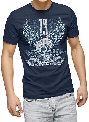 igsticker プリント Tシャツ メンズ 男性 M サイズ size おしゃれ クルーネック 消炭色 チャコール 男女兼用 t-shirt 005345 ラグジュアリー クール ドクロ 骸骨 羽根 翼