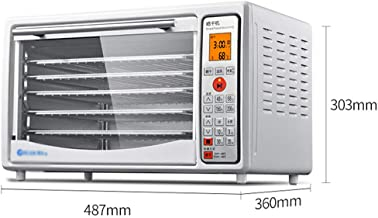 Máquina de conservación de alimentos para el hogar Deshidratador de frutas, pantalla táctil electrónica Control de temperatura Control de acero inoxidable Bandeja de 5 capas Secado comercial Alimentos