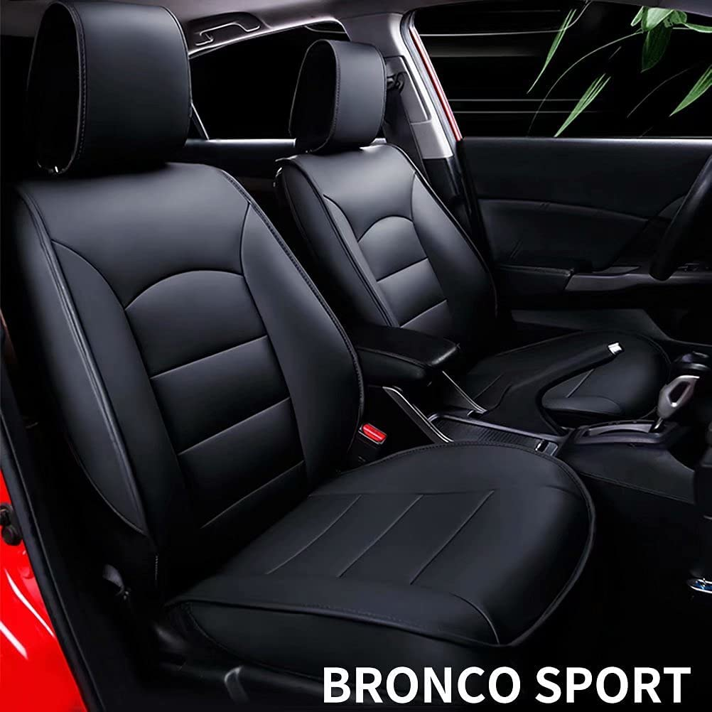 DIKSOAKR Custom for Ford Bronco Sport 2021 Car Seat Cover,Luxurious Full Set of Car Seat Covers with Airbag Compatible.Automotive Interior Accessories,Waterproof Faux Leather,Easy to Install
