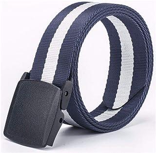 HUANPIN Cintura Uomo Cintura da Uomo in Pelle con Fibbia Ad Ardiglione in Vera Pelle Allungamento della Cintura Casual da Uomo Lunghezza 140 Cm Larghezza 3,8 Cm