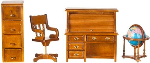 Puppenhaus Miniatur Traditionell Studieren M l-reihe mit Roll Top Schreibtisch