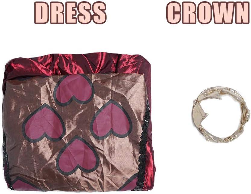 EraSpooky Disfraz de Reina de Corazones de Mujer Vestido de fantas/ía Royal Red Queen Traje de Cosplay de Fiesta de Halloween para Damas Adultas