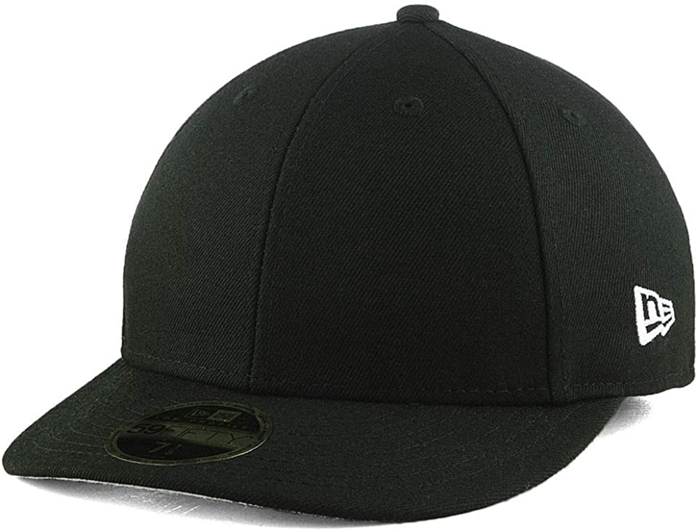 Blank New Max 75% Save money OFF Era Custom Low Fitted Cap Pro Black 59FIFTY