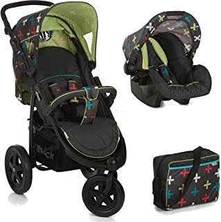 Hauck Viper Shop'n Drive with Mamma Bag, Travel System, 0M+ to 25 kg - Cross Caviar