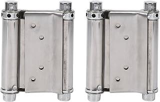 2個入り 蝶番 スプリングヒンジ ダブルアクションスプリングヒンジ 2.5~3.5cm対応 ステンレス ヒンジ金具 フリーゲート カウンタードア 窓 ドア