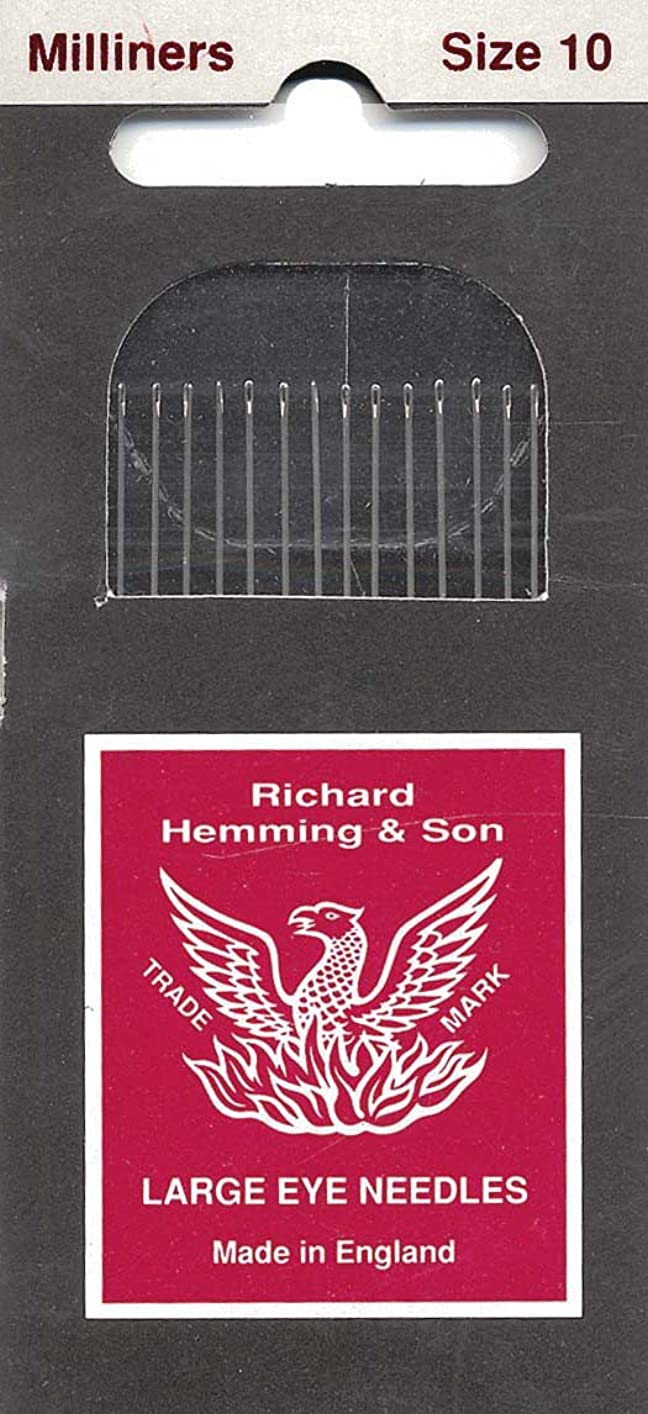 Colonial Needle HW250-10 16 Count Richard Hemming Milliners/Straw Needles, Size 10