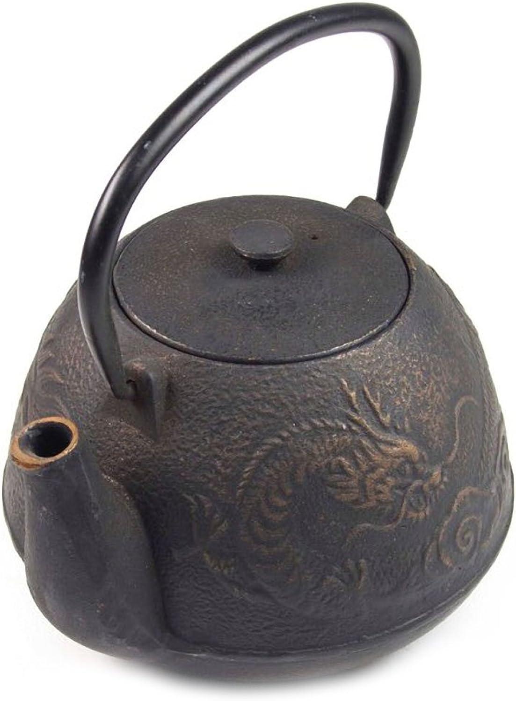 Théière Japonaise noire en fonte - Dragon