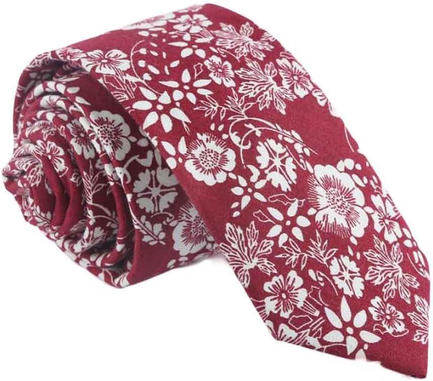 Wukong Direct Daily/Party/Wedding/Business Red Neckties Men Cotton Neckties Skinny Necktie 6cm