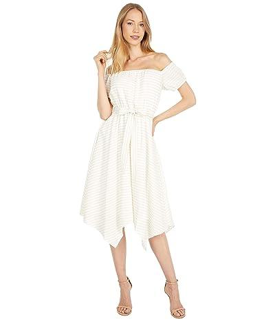 BCBGMAXAZRIA Off-the-Shoulder Stripe Dress