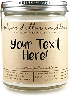 Personalized 8oz Scented Soy Candle - Custom Hand Crafted Gift made with 100% Soy Wax.