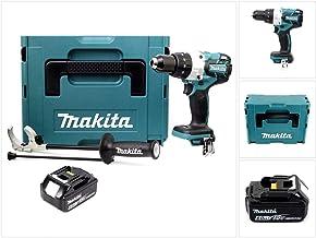 Makita DHP 481 RG1 - Taladro atornillador inalámbrico (18 V, 115 Nm, incluye 1 batería BL1860 de 6 Ah sin cargador)