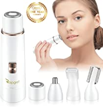 RAPGET Facial hair removal for women.4 in 1 Painless Electric Hair Removal Kit Included Facial Shaver,Eyebrow trimmer.Body Shaver.nose hair trimmer for women.Bikini trimmer. With USB Charging