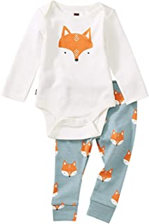Tea Collection Bodysuit Baby Outfit, Foxes, Multiple