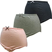 ローズマダム 産褥ショーツ3枚組 綿100% 肌ざわりがよく着け心地快適 お得セット ロングセラー 人気 出産準備 大きなサイズもあり C-BKドットPKドットGRドット M-L 115-0810-01-93-07