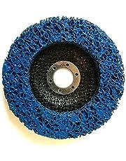 Disco de limpieza (5 unidades, CSD, diámetro 125 mm, CBS para amoladora angular, Clean Strip Disc, tejido de nailon, color azul