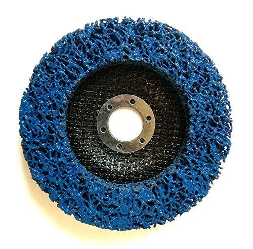 10 Stück Reinigungsscheibe Grobreinigungsscheibe CSD Ø 125mm CBS für Winkelschleifer Clean Strip Disc Nylongewebescheibe Blau