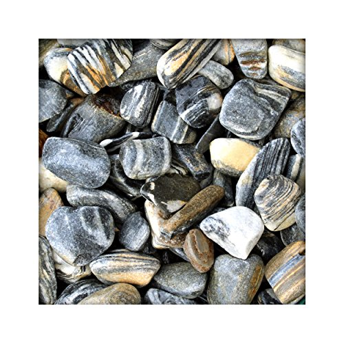 Tiger Pebbles 40/80 mm Zierkies Bunt Gartenkies Kies Kiesel Dekosteine 5 kg Sack