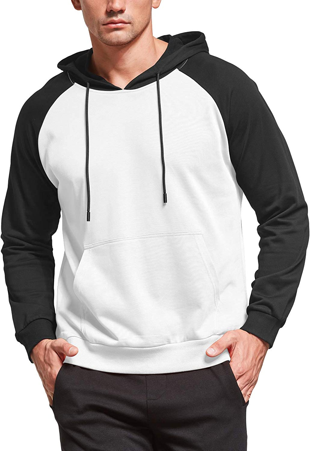 MLANM Mens Casual 100% quality warranty Ranking TOP17 Pullover Hoodie Sleeve Swea Long Cotton Hooded