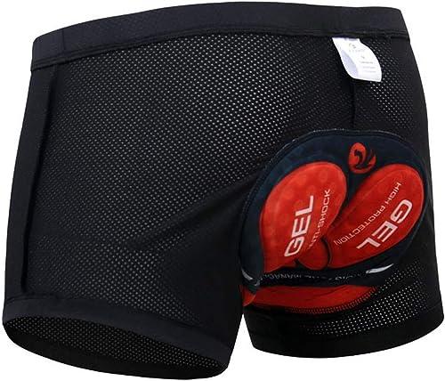 Cintura El/ástica de 4 cm de Ancho Almohadilla de Gel de 22mm Safort Pantal/ón Corto Ciclismo Hombre