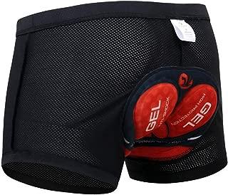 X-TIGER Mujer/Hombres Unisexo Ropa Interior de Bicicleta con 5D Gel Acolchado MTB Ciclismo Pantalones Cortos