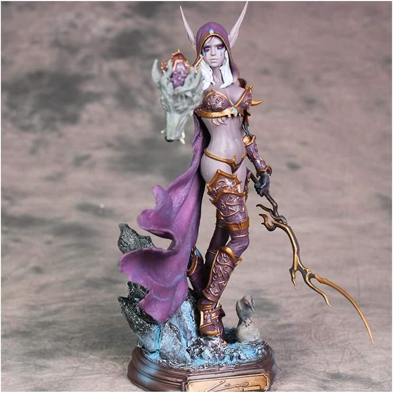 ZXH77f Spielzeug-Charakter-Modell World of Warcraft Sylvanas Undead-Knigin-Statuen-Innenministerium-Dekoration