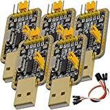 AZDelivery 5 pcs UART-TTL USB Adaptador con CH340G Modulo Convertidor 3.3V y 5V con Jumper Cable con E-Book incluido!