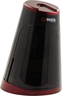 KOZYARD MAYA Full Automatic Electric Pencil Sharpener, Heavy-duty Helical Blade to Fast Sharpen, Auto Start and Stop for No.2/Colored Pencils(6-8mm) (RED)