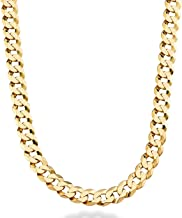Dubai Collections Cuban Link Chain 9MM, Round, 18K Gold with Inlaid Bronze, Fashion Jewelry Necklaces, Guaranteed for Life