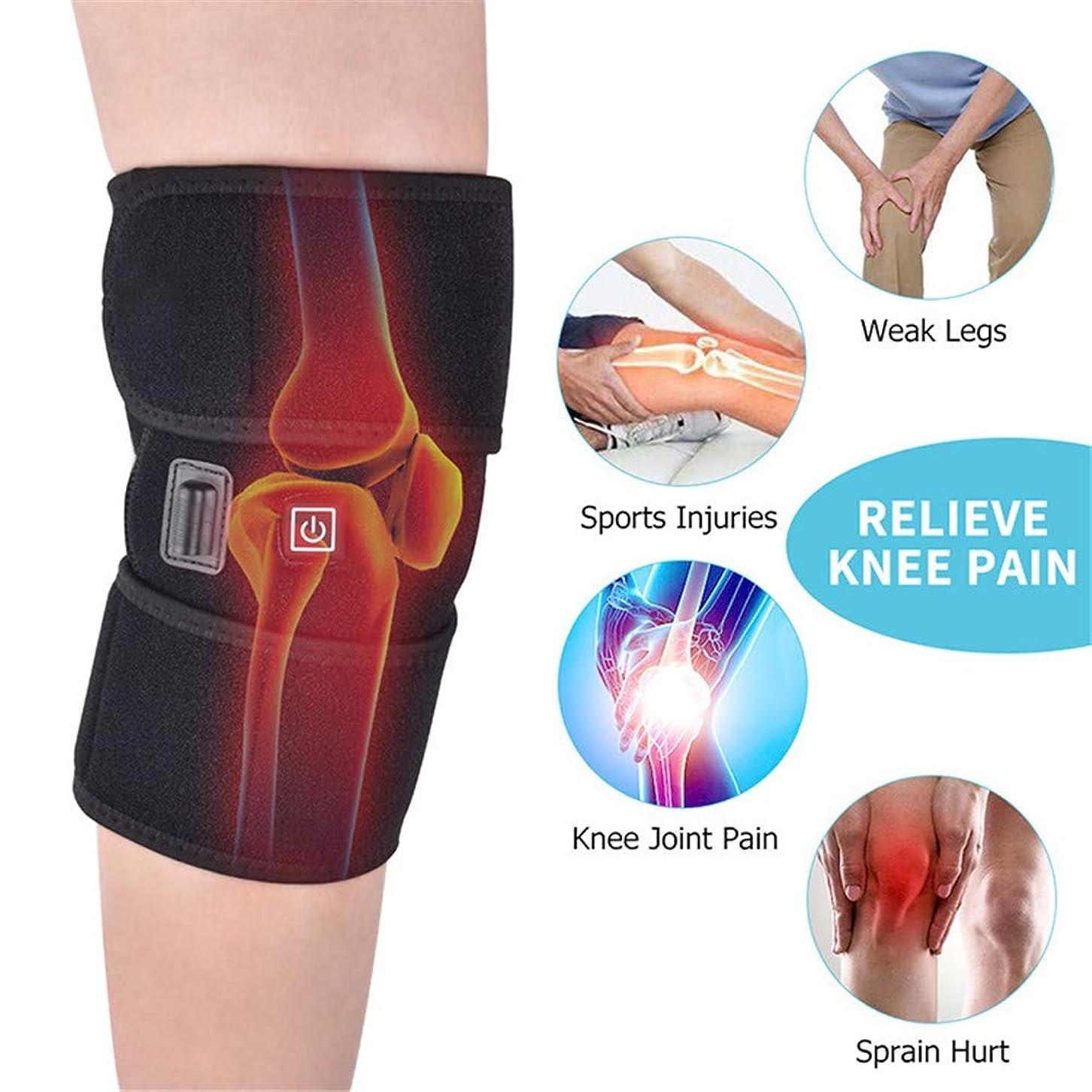 カレンダー医薬虫を数える膝加熱スリーブ関節炎膝サポートマッサージ加熱膝サポートベルト関節炎怪我痛み緩和熱療法