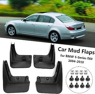 HCDSWSN Car Fender Flares Mud Splash Guards Mud Flaps Mudguards Mud Flaps,for BMW 5 Series E60 2004 2005 2006 2007 2008 2009 2010