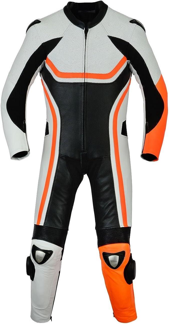 SleekHides Men's Fashion Motorcycle Real Leather Racing Suit
