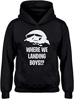 Where We Landing Boys?! Hoodie for Kids