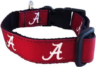 NCAA Alabama Crimson Tide Dog Collar (Team Color, Medium)