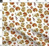 Pizza, Essen, Italienisch, Tomate, Wasserfarben Stoffe -