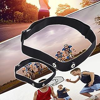 Anyutai - Correa de repuesto para Garmin Polar H1 H2 H3 H6 H7 H10 Runtastic Wahoo Sport Running Running ajustable de nailon para hombres y mujeres negro